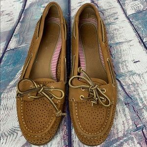 SPERRY TOP-SIDER Caramel Suede Shoes